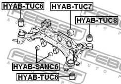 Сайлентблок подушки дифференциала Febest Hyabtuc7