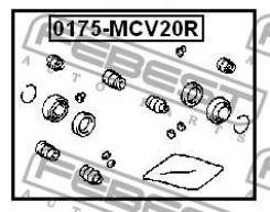 Ремкомплект суппорта тормозного заднего Febest 0175MCV20R