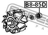 Подшипник шариковый 8x23x14 Febest B885D