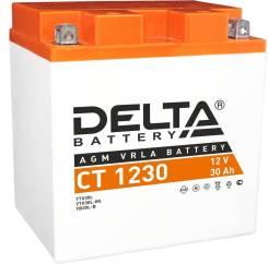 Мото аккумулятор Delta CT-1230 30 А/ч