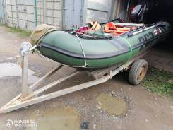 Продам комплект лодка, мотор, телега и принадлежности