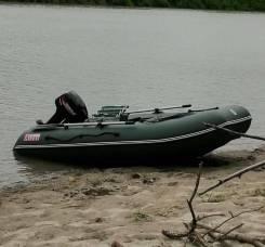 Продаю комплект лодка 3200 надувной дно + мотор ханкай9.9 раздушенный
