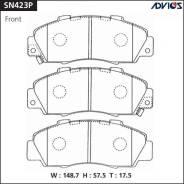 Колодки тормозные дисковые передние Advics SN423P