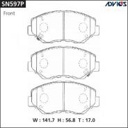 Колодки тормозные дисковые передние Advics SN597P Honda JADE FR4/FR5