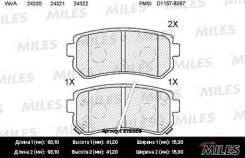 Задние тормозные колодки Miles для Hyundai, KIA