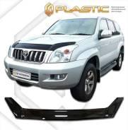 Дефлектор капота Toyota Land Cruiser Prado J120 2002-2009г. Черный