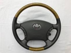 Оригинальный обод руля с косточкой под светлое дерево Toyota