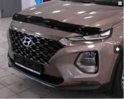 Hyundai Santa Fe 2018 - SIM Дефлектор капота (Мухобойка)