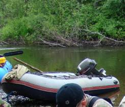 Продам лодку ПВХ Корсар Комбат в комплекте с мотором Тохатсу