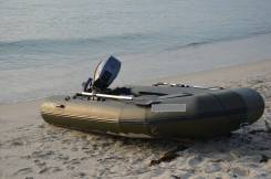 ПВХ лодка АЭРО серия V-340 с транцевыми колесами и двигателем 15 лс