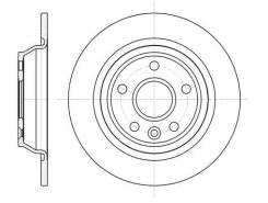 Диск тормозной задний 61167.00 Remsa FORD Focus/Galaxy/Kuga/Mondeo
