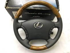 """Анатомический обод руля """"Clazzio"""" с косточкой под дерево для Lexus"""