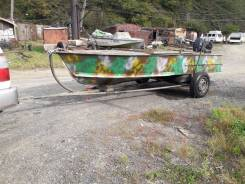 Продам моторную лодку МКМ на телеге, и мотор Hidea 2018г