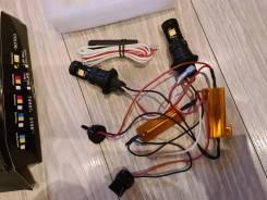 DRL LED T-20 двухцветные, Дневные ходовые огни в поворотник