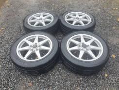 Комплект летних колес- шины Kumho 215/55 диски Tecnomagnesio R17 5х114