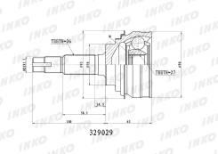 Шрус наружный Toyota 3S#, 5S-FE 96-02, INKO