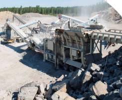 Дробильно-сортировочный завод на базе установок Metso