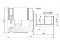 Шрус внутренний Honda Accord, HR-V, Stream, Civic, 27/30 шлиц., SAT