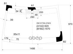 Стекло Лобовое Cadillac Cts 4/5d 07-13 XYG арт. DW01739 LFW/X, переднее