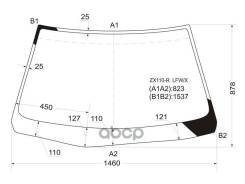Стекло Лобовое Toyota Mark Ii / Mark Ii Blit #X110 4/5d 00-07 XYG арт. ZX110-R LFW/X, переднее