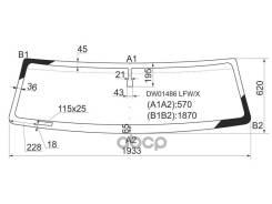 Стекло Лобовое Hummer H2 02-09 XYG арт. DW01486 LFW/X, переднее