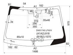 Стекло Лобовое + Дд Cadillac Cts 4/5d 07-13 XYG арт. DW01740 LFW/X, переднее