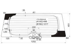 Стекло Заднее С Обогревом Suzuki Escudo/Grand Vitara Suv 3/5d 05-15 XYG арт. YT4 RW/H/X