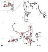 Комплект сайлентблоков + втулки Honda UA2 16шт