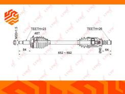 Привод в сборе Lynxauto CD1178A левый передний