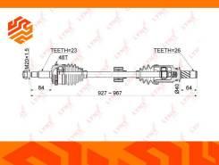 Привод в сборе Lynxauto CD1179A правый передний