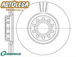 Диск тормозной перед. G-brake AUDI A4 / A6 01-08 / Skoda Superb 01-08