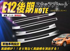 Накладки на пороги Nissan Note 2012+ (нержавеющая сталь)