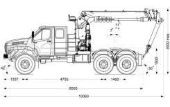 Седельный тягач с КМУ ИТ-150 Урал NEXT, 2021