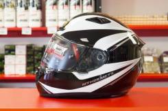 Шлем MT Matrix Incisor Gloss Black White Silver
