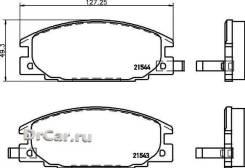 Колодки тормозные дисковые, передние, Mitsubishi Rocsta, Galant I-II, L 200, L 300, Delica II NP4000 Nisshinbo [NP4000]