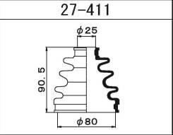 Пыльник ШРУСа внешнего Maruichi 27411