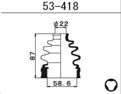 Пыльник ШРУСа внутреннего Maruichi 53418