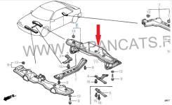 Подрамник задняя часть ( балка , поперечина ) для Honda Accord 5