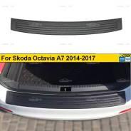 Накладка на задний бампер Skoda Octavia A7 2014-2017