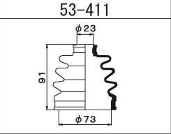 Maruichi 53-411 Пыльник ШРУСа внешнего