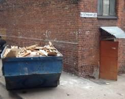 Вывоз строительного мусора контейнерои