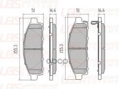 Премиум Тормозные Колодки Для Mitsubishi Pajero Sport Ii 08-/L200 05-/10- Передние, В Комплекте Со С UBS арт. BP1107013