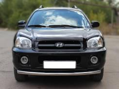 Защита переднего бампера одинарная d-60 Hyundai Santa FE Classic 00-12