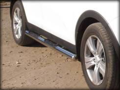 Пороги со степом d-76 Hyundai Santa FE Classic 2000-2012