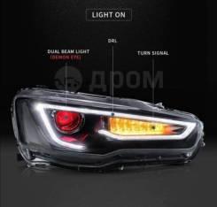 """Тюнинг фары (оптика) Mitsubishi Lancer X """"Daemon Eye - Audi style"""""""