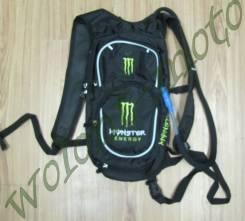 Рюкзак с поилкой Monster Черный с зеленым
