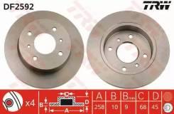 Тормозной диск задний DF2592 TRW