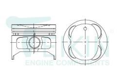 Поршень двигателя (4шт/упак) Teikin 46621-050