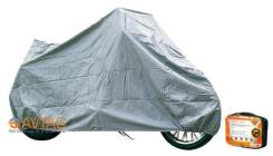 Чехол-тент на мотоцикл защитный, размер S (195х100х120см), цвет серый, универсальный (AC-MC-04) Airline ACMC04