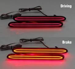 Cветодиодные отражатели заднего бампера Honda Accord 7 CL7 , CL 9 ,